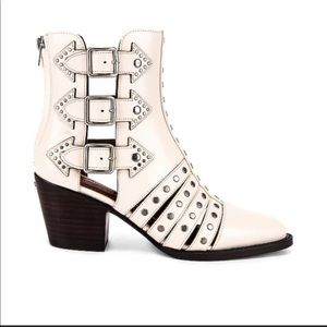 Coach Phoebe white studded boots
